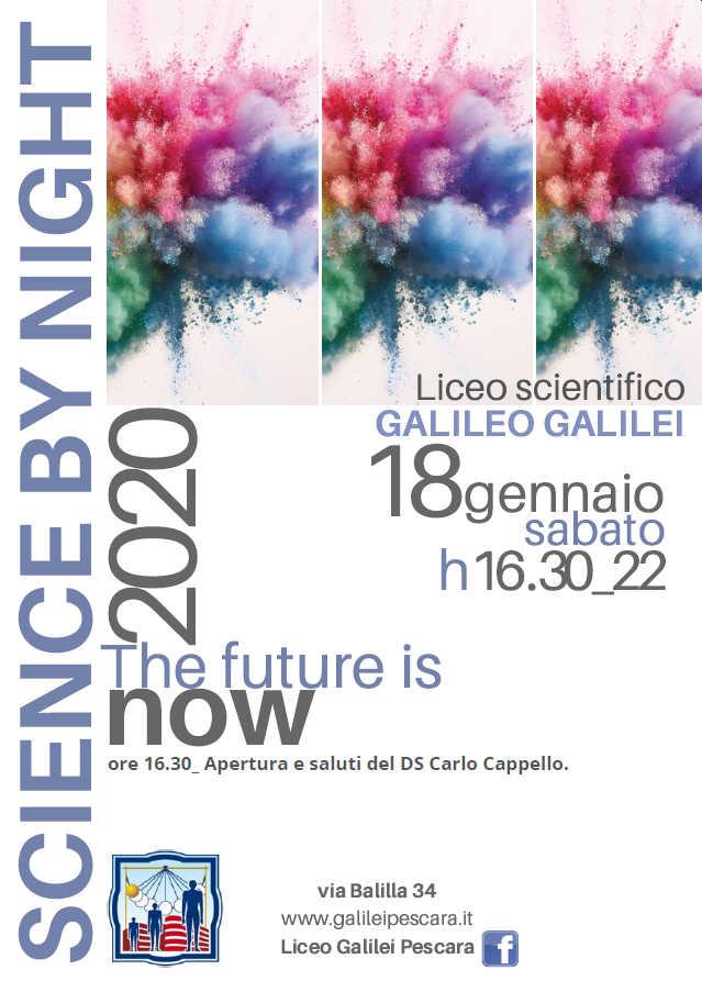 Manifesto della manifestazione Science by night, sabato 18 gennaio 2020